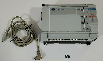Preowned Allen Bradley 1764-24bwa Lrp Micrologix 1500 Controller 1761 Cable