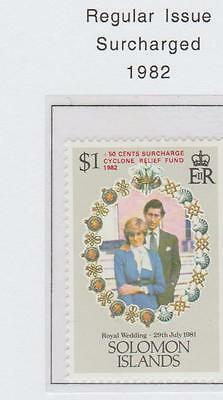 Solomon Islands Cyclone Relief Surcharged Stamp 1982