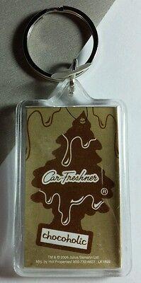 AS-IS CAR-FRESHENER CHOCOHOLIC CHOCOLATE TREE BROWN TAN KEY CHAIN KEYCHAIN