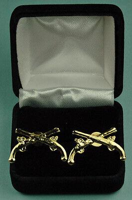 MP MILITARY POLICE BRANCH U.S. Army Cuff Links in Presentation Gift Box USA