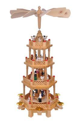 Holz Weihnachtspyramide 4-stöckig ca. 52cm Pyramide Weihnachtsdeko #32