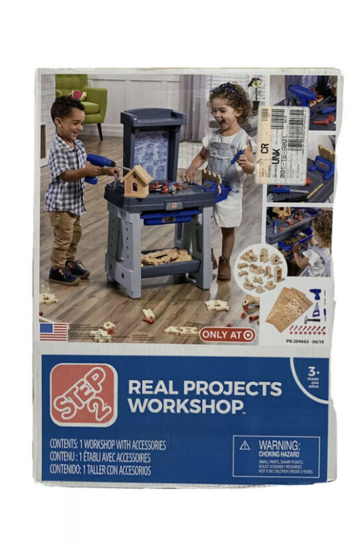 Step2 Real Projects Workshop and Tool Bench Grey/Blue. Target Exclusive. NEW