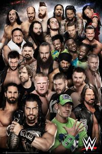 WWE Superstars 2018 Maxi Poster Print 61x91.5cm   24x36 inches Smackdown print