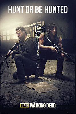 Poster WALKING DEAD - Hunt Or Be Hunted - Daryl & Rick ca60x90 NEU 58441