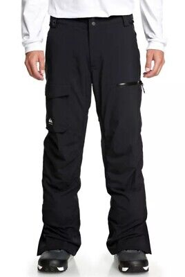 Quiksilver Utility Snow Pants Snowboard Ski 20K Men's Large Black $190 NEW