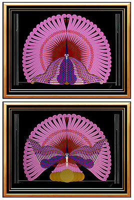 2 Embossed ERTE Serigraph Original SIGNED Art DECO The PHOENIX SUITE Serigraphs