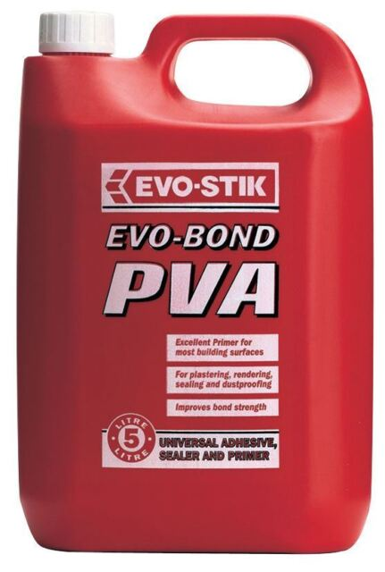 EVO STIK PVA ADHESIVE GLUE READY TO USE PRIMER PLASTERING RENDERING SEALING 5L