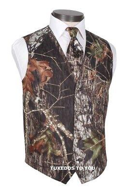 NEW Mossy Oak Camouflage Tuxedo Vest Dress tie  Real Pockets FREE - New Tuxedo Vest