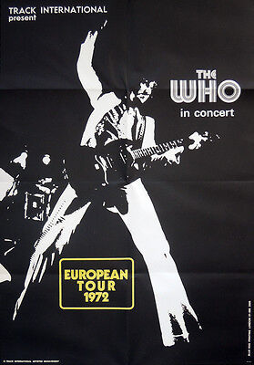 THE WHO REPRO 1972 IN CONCERT EUROPEAN TOUR POSTER . 70 X 48 CM