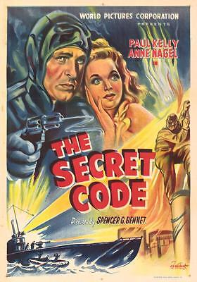 The Secret Code 1942 vintage action espionage serial in case w/artwork Free Ship