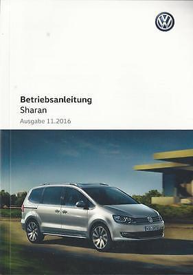 VW   SHARAN  2 Betriebsanleitung 2017 Bedienungsanleitung Handbuch   BA