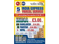 By Air From £2.50*kg UK FREE PICK UP INDIA PARCEL SERVICE & DOCUMENT,CARGO,EXESS BAGGAGE WORLDWIDE