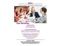Ekin Teaching & Translation Services