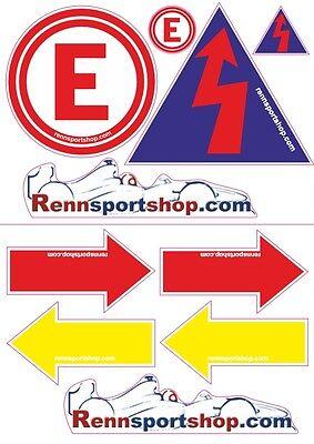 Sticker Set Bogen Aufkleber für FIA DMSB Sicherheitssymbole rennsportshop.com