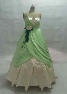 Disney Dress Princess and Frog Tiana Costume adult SIZE 6,8,10,12,14,16 ](Adult Princess Tiana Costume)