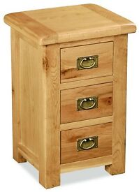 New Salisbury Erne Lite Oak Bedside Cabinet side table. SALE £85
