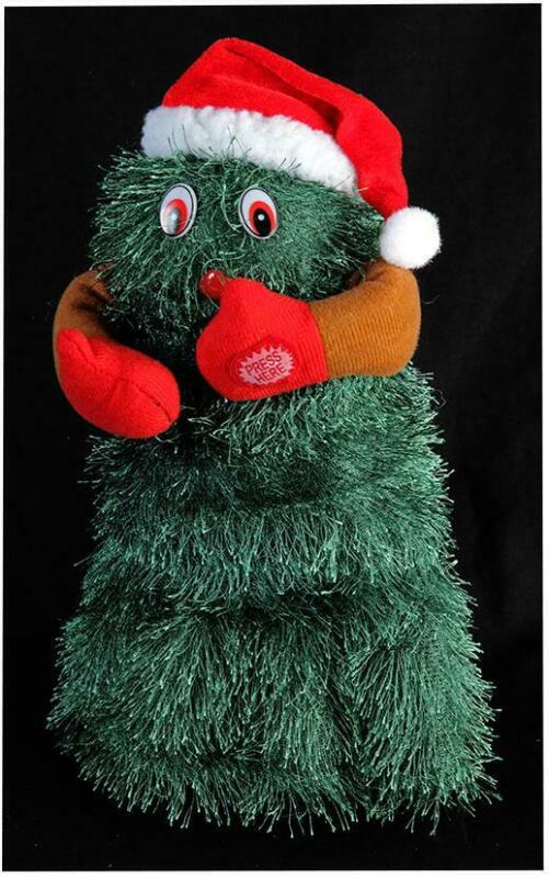 Singing+Dancing+Christmas+Tree+Sings+Jingle+Bell+Rock+30cm+Tall+Xmas+Decoration
