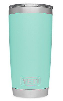 YETI Seafoam 20 oz Vacuum Insulated Cooler Travel Coffee Mug Tumbler with Lid