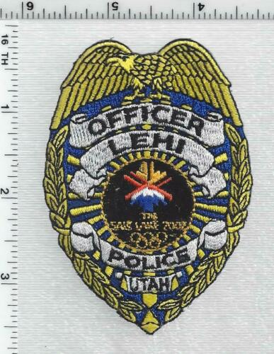Lehi Police (Utah) 1st Issue Cap/Hat Patch (TM c 1997 SLOC 36 USC 220506)
