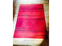 PERFECT CONDITION RED AND BROWN RUG