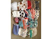 Huge bundle of cloth / reusable nappies