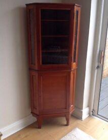 Vintage Art Deco Corner Cabinet