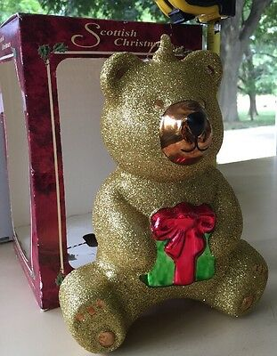 Scottish Christmas Holiday Collection Gold Glitter 10