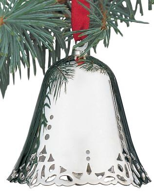 Silver Plated Christmas Bell Ornament