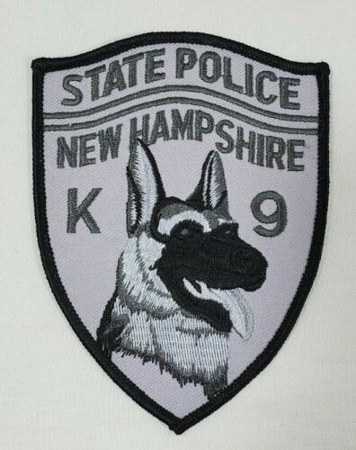 NEW HAMPSHIRE STATE POLICE K-9 POLICE SHOULDER PATCH