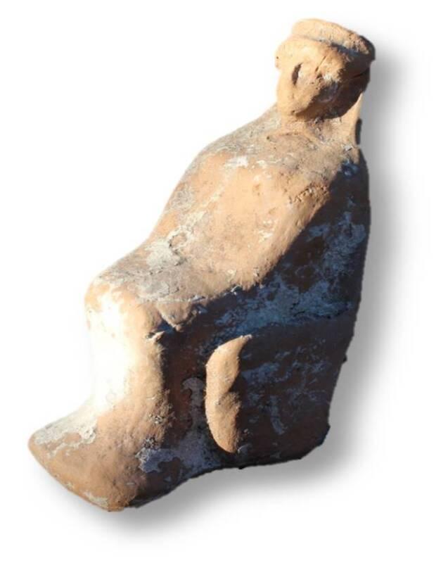 6th to 5th century B.C. - Greek Terracotta Goddess on Throne - Museum Piece