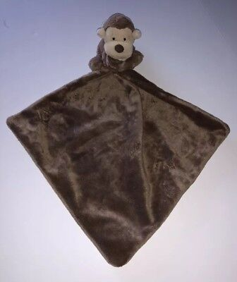 LITTLE JELLYCAT BROWN MONKEY SECURITY BLANKET LOVEY A4