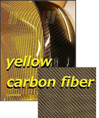 Yellow Carbon Fiber Hydrographics Film Water Transfer Printing 50x100cm Pva