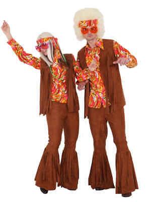 braune Weste mit Fransen zum Damen Kostüm Hippie - Hippie Fransen Weste Kostüm