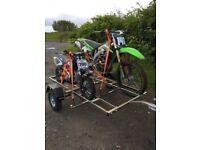 Two bike trailer like new