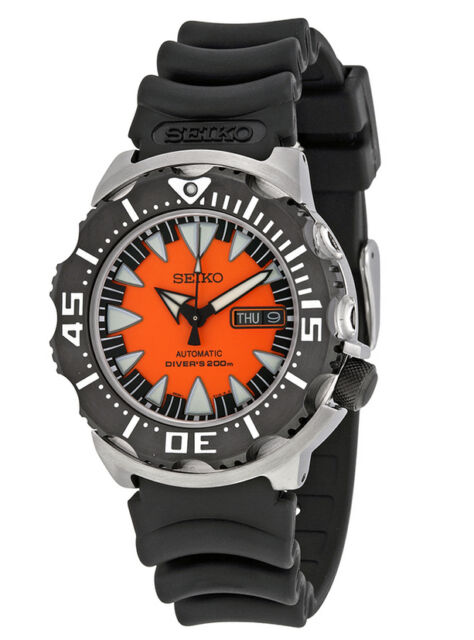 SEIKO SUPERIOR AUTOMATIC ORANGE MONSTER DIVER'S BAND 200M WATCH SRP315 SRP315K1
