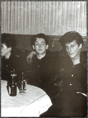 THE BEATLES POSTER PAGE . PAUL MCCARTNEY & PETE BEST - 1960 HAMBURG .