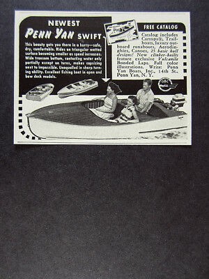 Used, 1958 Penn Yan Swift Boat vintage print Ad for sale  Shipping to South Africa