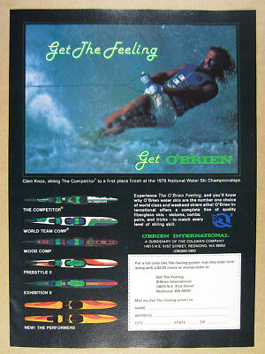 Used, 1979 O'Brien Water Skis Competitor Team Wood Comp Performers vintage print Ad for sale  Hartland