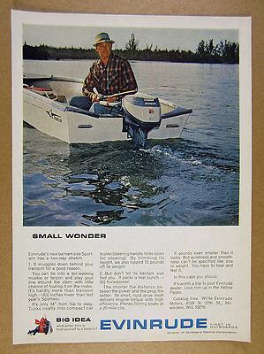 1963 Evinrude Sportwin Outboard & Arkansas Traveler Boat photo vintage print Ad