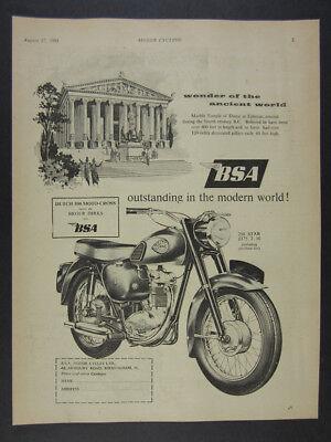 1961 BSA C15 250 STAR Motorcycle illustration art vintage print Ad