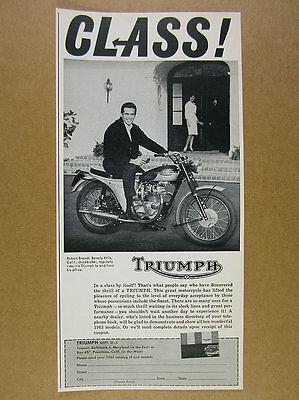 1963 Triumph Motorcycle photo vintage print Ad