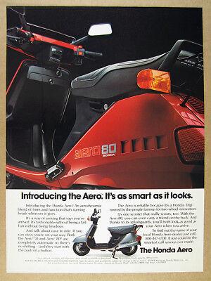 1983 Honda Aero 50 & 80 Scooters photo 'Introducing' vintage print Ad