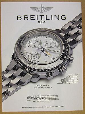 1992 Breitling Chrono Longitude chronograph watch photo vintage print Ad