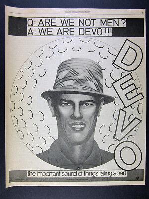 1978 DEVO Are We Not Men? We Are Devo! album promo vintage print Ad