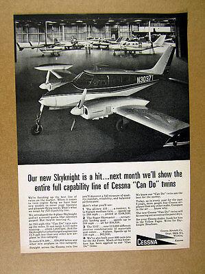 1965 Cessna Skyknight airplane plane photo vintage print Ad