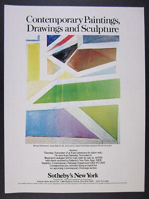 1980 Richard Diebenkorn Ocean Park No. 22 painting Sotheby's vintage print Ad