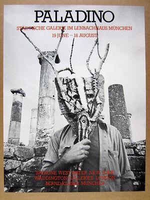 1985 Mimmo Paladino Retrospective Exhibition Munich gallery vintage print Ad