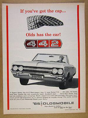 1965 Olds 442 4-4-2 Convertible oldsmobile photo vintage print Ad