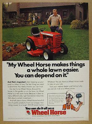 1979 Wheel Horse C-121 Tractor color photo vintage print Ad
