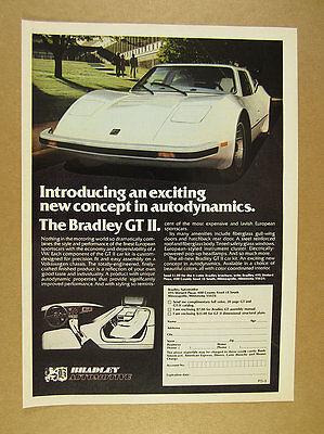 1977 Bradley GT II vw kit car interior exterior photos vintage print Ad